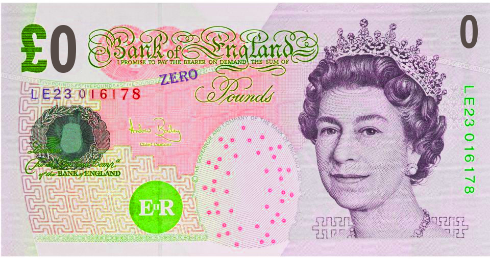 0 pound note